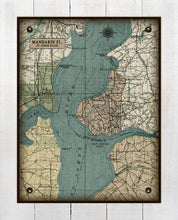 Load image into Gallery viewer, Florida  St Johns River -Mandarin-Vintage Map On 100% Natural Linen