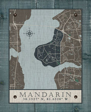 Load image into Gallery viewer, Mandarin Stylized Map On 100% Natural Linen
