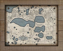 Load image into Gallery viewer, Mt Dora, Tavares & Lakes Map On 100% Linen