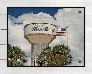 Niceville Water Tower Sign On 100% Linen