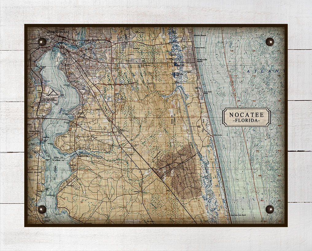First Coast Nocatee Map On 100% Linen