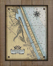 Load image into Gallery viewer, Ormond Beach Nautical Chart On 100% Linen