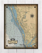 Load image into Gallery viewer, Osprey & Casey Key & Laurel Nautical Chart On 100% Linen