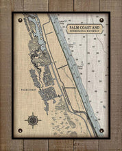 Load image into Gallery viewer, Palm Coast Nautical Chart On 100% Linen