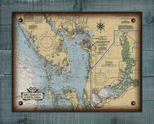 Load image into Gallery viewer, Port Charlotte And Punta Gorda Nautical Chart On 100% Natural Linen