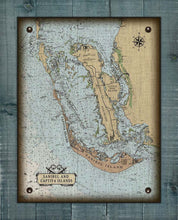 Load image into Gallery viewer, Sanibel, Captiva And Pine Island Nautical Chart On 100% Natural Linen
