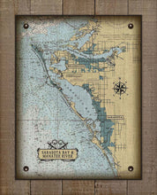 Load image into Gallery viewer, Sarasota Bay And Manatee River Nautical Chart On 100% Natural Linen
