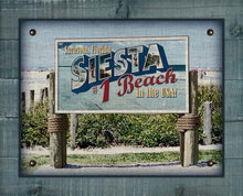Load image into Gallery viewer, Siesta Beach Welcome Sign On 100% Linen