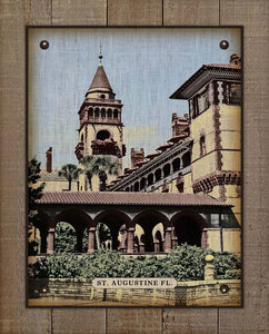 Flagler College, St Augustine Florida On 100% Linen