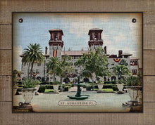 Load image into Gallery viewer, Hotel Alcazar, St Augustine Florida On 100% Linen