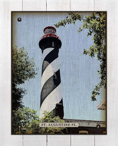 St Augustine Lighthouse On 100% Linen