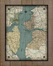 Load image into Gallery viewer, St Johns River - Orange Park, Mandarin, Fleming Island & Fruit Cove-Vintage Map On 100% Natural Linen