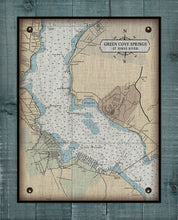Load image into Gallery viewer, St Johns River - Green Cove Springs - Nautical Chart On 100% Natural Linen