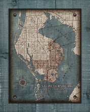 Load image into Gallery viewer, St Petersburg Map On 100% Linen