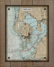 Load image into Gallery viewer, Tampa Bay - Nautical Chart On 100% Linen