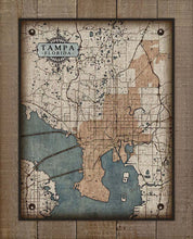 Load image into Gallery viewer, Tampa - Map On 100% Linen