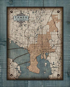 Tampa - Map On 100% Linen