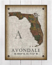 Load image into Gallery viewer, Avondale Florida Vintage Design - On 100% Natural Linen