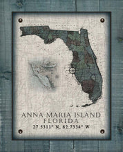 Load image into Gallery viewer, Anna Maria Island Florida Vintage Design On 100% Natural Linen