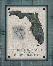 Load image into Gallery viewer, Bradenton Beach Florida Vintage Design On 100% Natural Linen