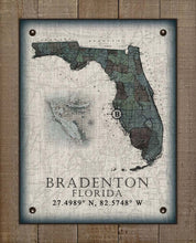Load image into Gallery viewer, Bradenton Florida Vintage Design On 100% Natural Linen