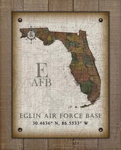 Load image into Gallery viewer, Eglin Air Force Base Florida Vintage Design On 100% Natural Linen