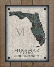 Load image into Gallery viewer, Miramar Florida Vintage Design On 100% Natural Linen