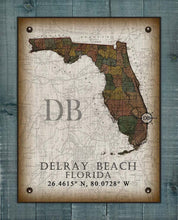 Load image into Gallery viewer, Delray Beach Florida Vintage Design On 100% Natural Linen
