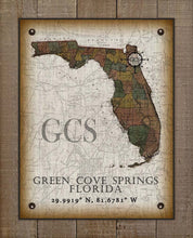 Load image into Gallery viewer, Green Cove Springs Florida Vintage Design On 100% Natural Linen
