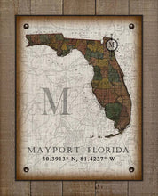 Load image into Gallery viewer, Mayport Florida Vintage Design On 100% Natural Linen