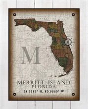 Load image into Gallery viewer, Merritt Island Florida Vintage Design On 100% Natural Linen