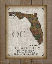 Load image into Gallery viewer, Ocean City Florida Vintage Design On 100% Natural Linen