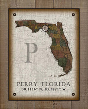 Load image into Gallery viewer, Perry Florida Vintage Design On 100% Natural Linen