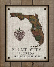 Load image into Gallery viewer, Plant City (3) Florida Vintage Design On 100% Natural Linen