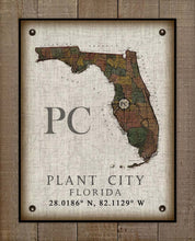 Load image into Gallery viewer, Plant City Florida Vintage Design On 100% Natural Linen