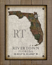 Load image into Gallery viewer, Rivertown Florida Vintage Design - On 100% Natural Linen