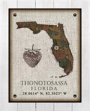 Load image into Gallery viewer, Thonotosassa Florida Vintage Design On 100% Natural Linen