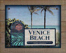 Load image into Gallery viewer, Venice Beach Welcome Sign On 100% Linen