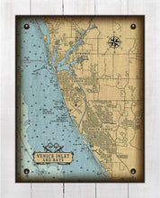 Load image into Gallery viewer, Venice Florida Nautical Chart On 100% Natural Linen