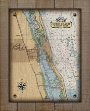 Load image into Gallery viewer, Vero Beach Nautical Chart On 100% Natural Linen
