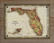 Load image into Gallery viewer, 1864 Florida Vintage Map On 100% Natural Linen