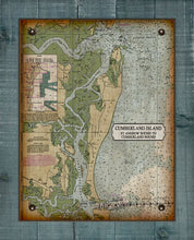 Load image into Gallery viewer, Cumberland Island Nautical Chart - On 100% Natural Linen