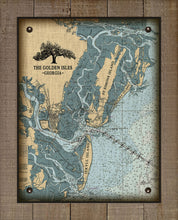 Load image into Gallery viewer, Golden Isles (blue) -Jekyll, St Simons & Sea Island Nautical Chart - On 100% Natural Linen