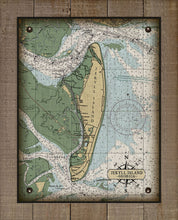 Load image into Gallery viewer, Jekyll Island Nautical Chart - On 100% Natural Linen