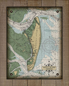 Jekyll Island Nautical Chart - On 100% Natural Linen