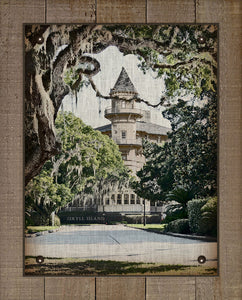 Jekyll Island Club Hotel (vertical) - On 100% Natural Linen