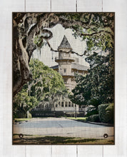 Load image into Gallery viewer, Jekyll Island Club Hotel (vertical) - On 100% Natural Linen
