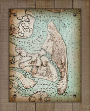 Load image into Gallery viewer, Vintage Jekyll Island Nautical Chart - On 100% Natural Linen