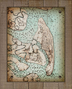 Vintage Jekyll Island Nautical Chart - On 100% Natural Linen