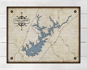 Lake Lanier - On 100% Natural Linen
